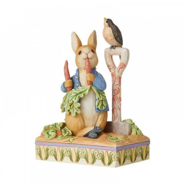 Jim Shore Beatrix Potter Then he ate some radishes . Peter Rabbit Ornament