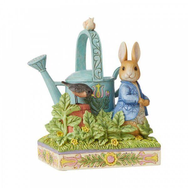 """Jim Shore Beatrix Potter  """"Caught in Mr. McGregor's Garden"""" . Peter Rabbit Figurine"""
