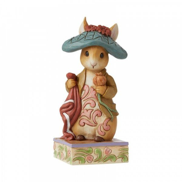"Jim Shore Beatrix Potter ""Nibble, Nibble, Crunch"" Benjamin Bunny Peter Rabbit Figure"