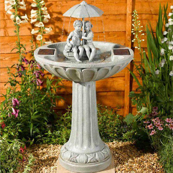 Solar Powered Umbrella Fountain
