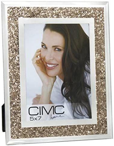 Mirror Gold Diamond Crush Glitter Photo Frame 5 x 7