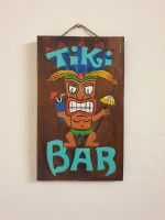 Tiki Bar Wooden Plaque