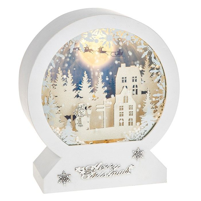 LED Musical Dome With Moving Snow White Xmas