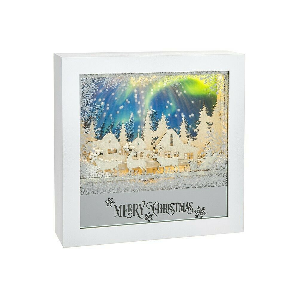 LED Musical Square With Moving Snow White Xmas