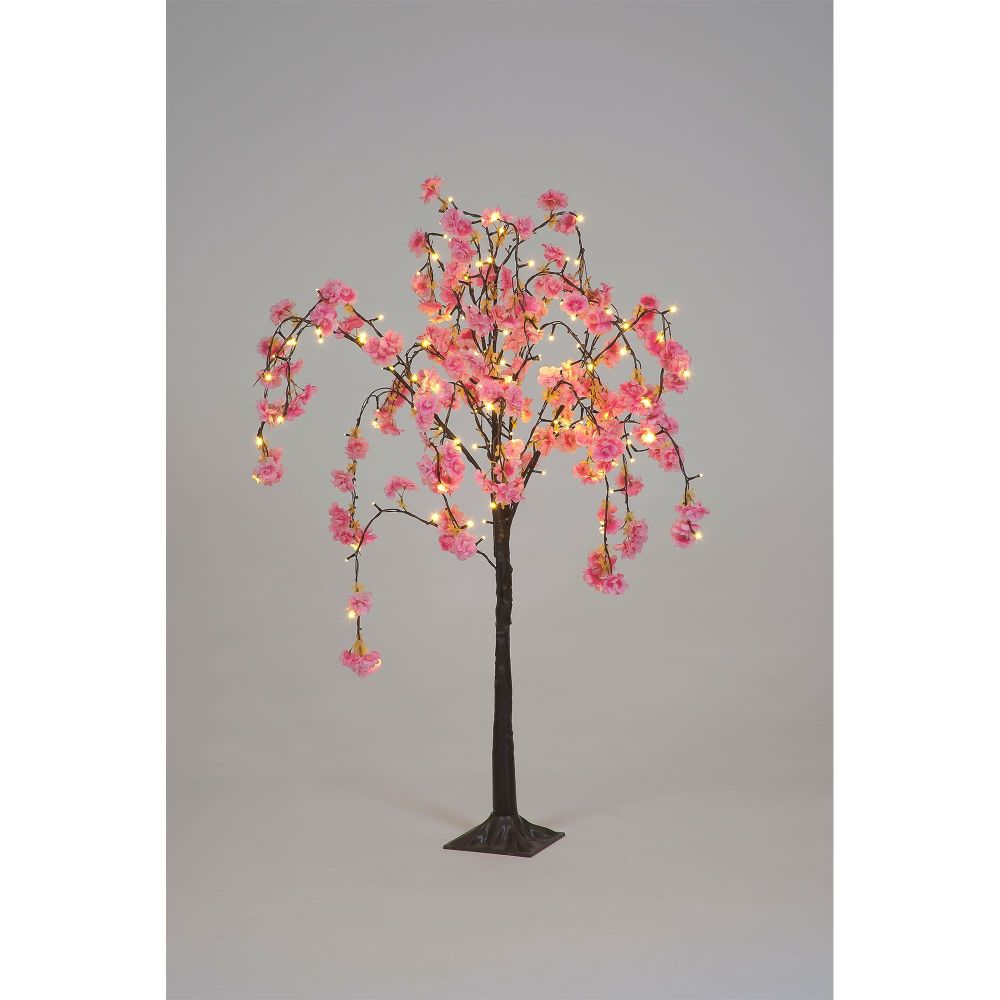 LED 1.2m Cherry Blossom Tree with 144 Dark Pink Flowers 240v Indoor/Outdoor