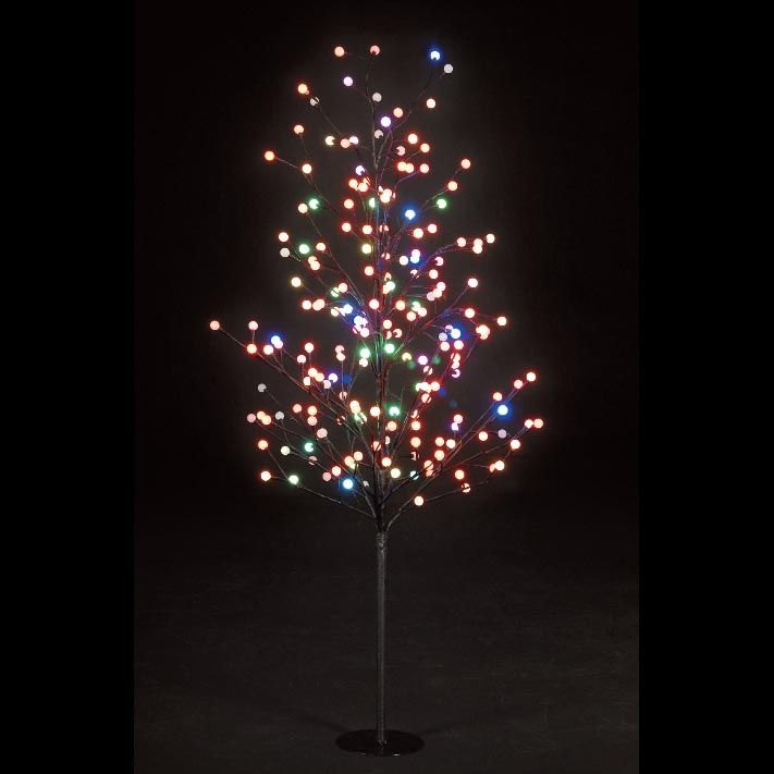 200 LEDs 1.5m Multi Coloured Globe Tree 240v Indoor/Outdoor
