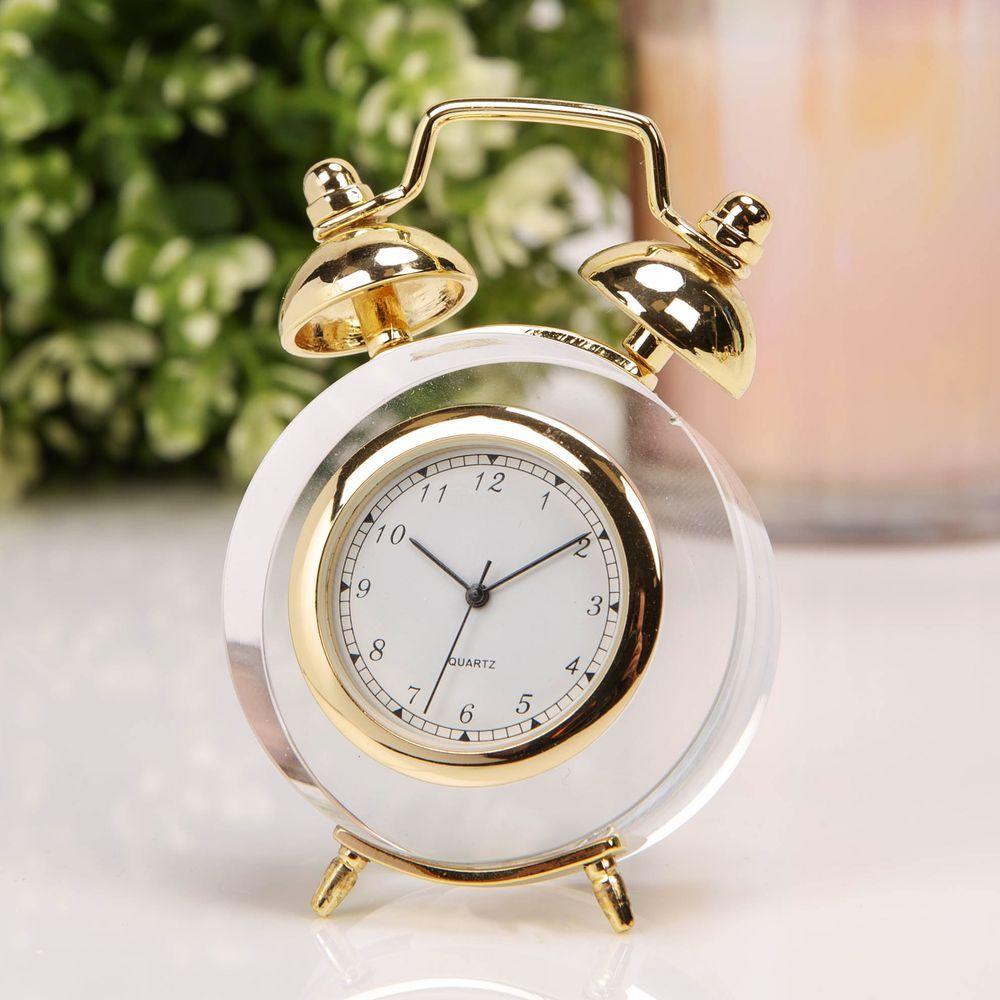 William Widdop Miniature GLASS  Alarm Clock  Stunning Gift