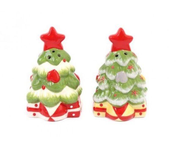 Christmas Tree Salt & Pepper Cruet Set