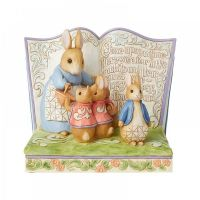 Jim Shore Beatrix Potter Once Upon a Time Storybook Peter Rabbit Figurine