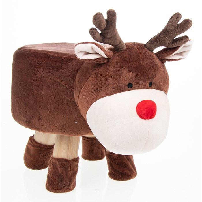 Cute Christmas Reindeer Footstool