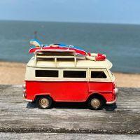 Mini Campervan Metal Ornament - Red
