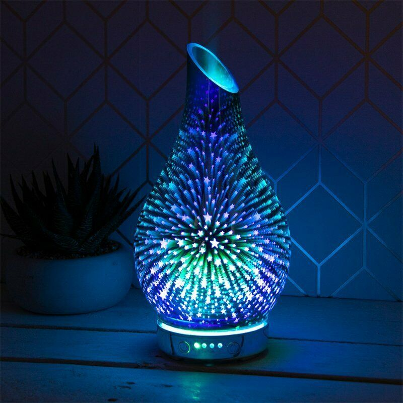 Ultrasonic Colour Changing Stars Humidifier Diffuser Lamp  Air Mist Purifie