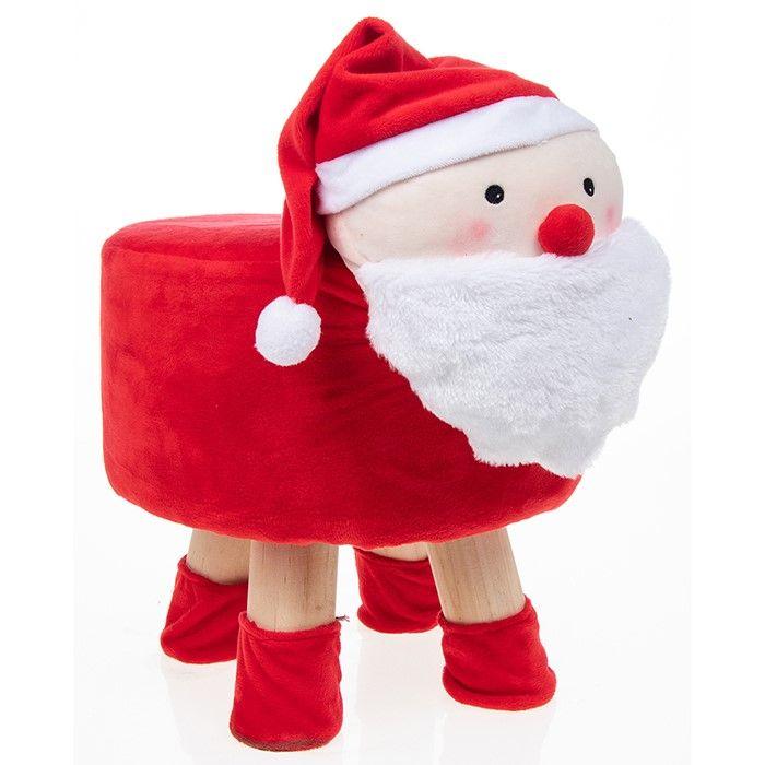 Cute Christmas Santa Footstool