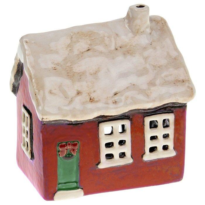 Village Pottery Xmas Cottage Tealight