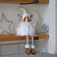 48cm Ophelia Sitting Winter Fairy Princess White Christmas Decor