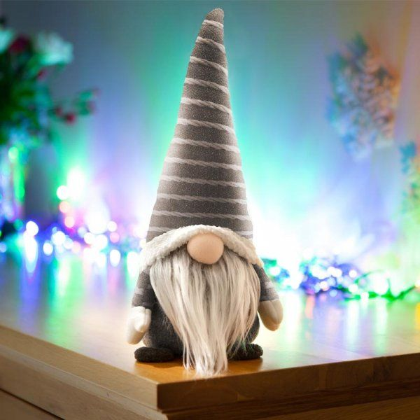 Grey Gonkert Gonk Plush Christmas Decor