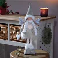 65cm Angelica Standing Winter Fairy Princess Large White Christmas Decor