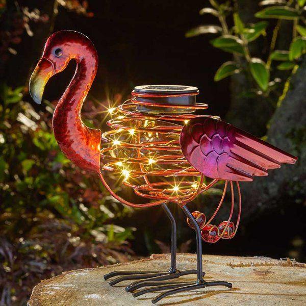 Solar Powered Flamingo Spiralight