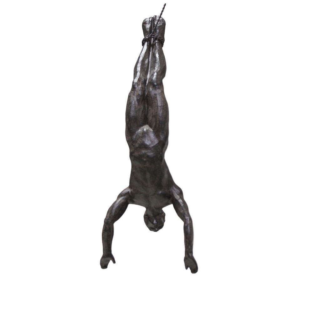Bronze Bungee Jumping Man Ornament