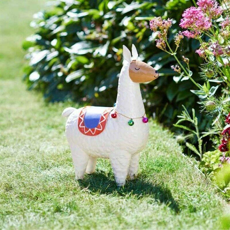 Metal Llama Rama Hand Painted Garden Statue Ornament