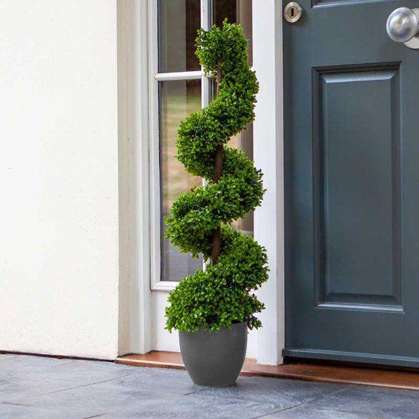 Artificial Topiary Twirl Tree Outdoor Indoor Garden Patio Path Decor 90cm