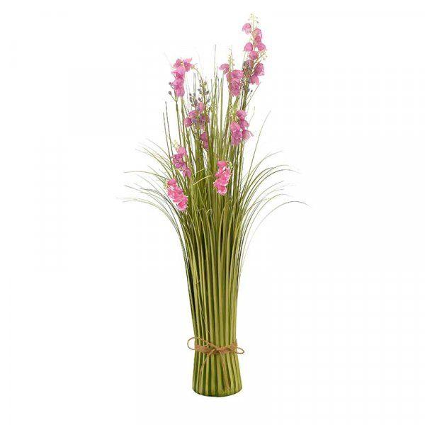 70cm Very Violet Wild Flower Grass Faux Bouquet