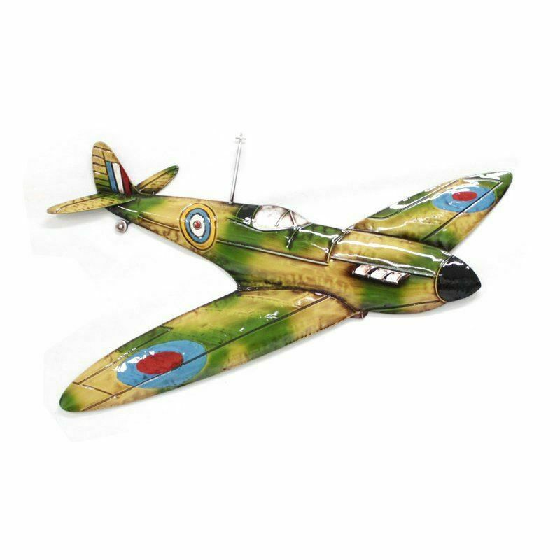 Large Metal Wall Art - RAF Spitfire Plane