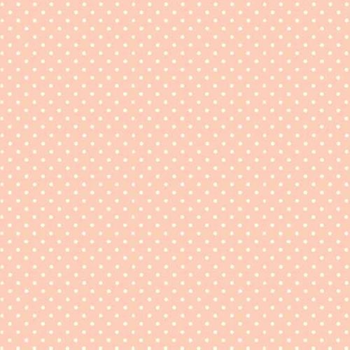Spot On Cheeky Pink White Polkadot on Pale Pink Cotton Fabric by Makower FQ