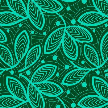 REMNANT Leaf Lines in Jade Cotton Fabric by Amy Butler Violette