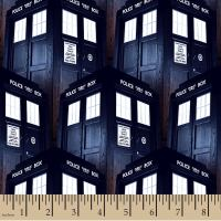 Doctor Who Packed Tardis BBC Cotton Fabric