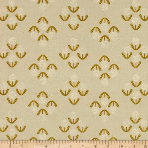 Dandelion Puff Mustard Zephyr Cotton and Steel Cotton Fabric