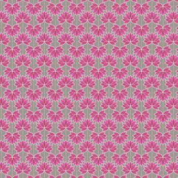 Lotus Flower Pink Minshan Lewis and Irene Cotton Fabric