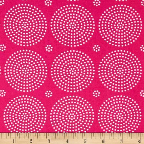 Atrium Eclipse Fuchsia Pink Blender Coordinate Cotton Fabric