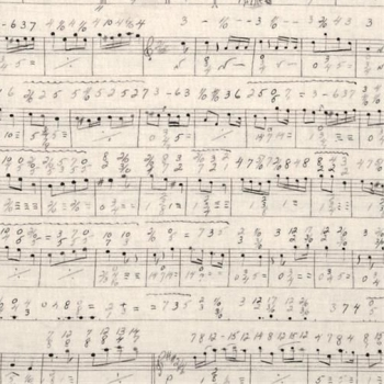 Sheet Music Notes Symphony Cotton Fabric by Tim Holtz Eclectic Elements