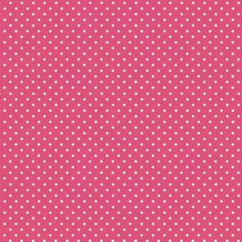 Spot On Raspberry White Polkadot on Pink Cotton Fabric by Makower