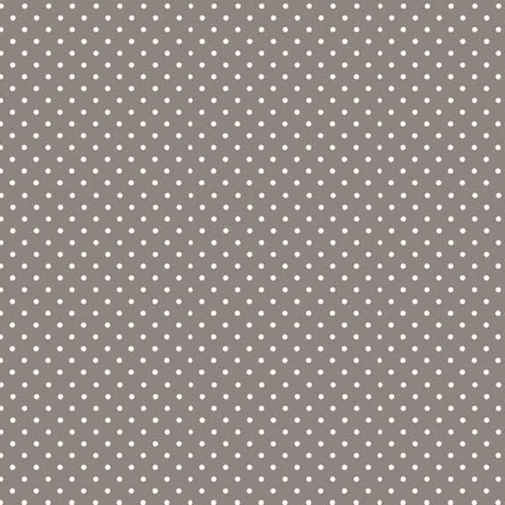 Spot On Sophia Grey White Polkadot on Grey Cotton Fabric by Makower