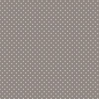 Spot On Steel Grey White Polkadot on Grey Cotton Fabric by Makower