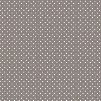 Spot On Steel Grey White Polkadot on Grey Cotton Fabric by Makower