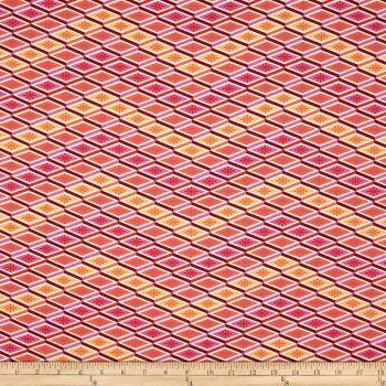 Eden Labyrinth Peach Geometric Tula Pink Cotton Fabric