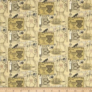 Sew Vintage Montage Sewing Cotton Fabric by Bristol Bay Studios