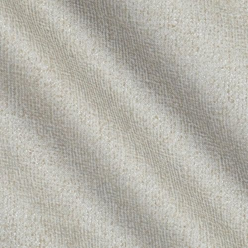 Metallic Burlap Refined Silver Texture Cotton Fabric
