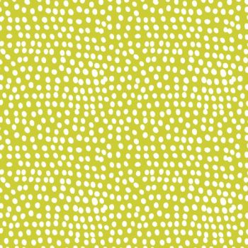 Flurry Lime Green Spot Spotty Polkadot Dotty Cotton Fabric