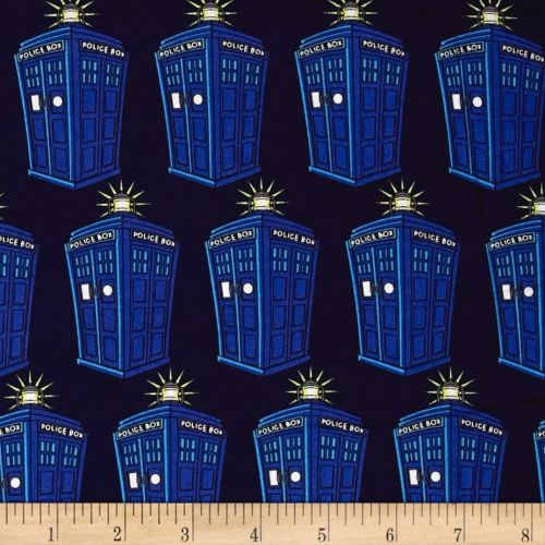 Doctor Who Tardis Comics Police Public Call Box BBC Geek Cotton Fabric