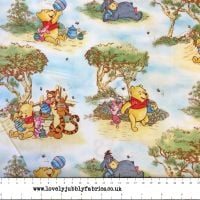 REMNANT Disney Winnie the Pooh and Friends Nursery Scenic Cotton Fabric