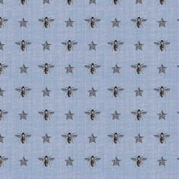 Bee Fabric Honey Bees on Something Blue Star Cotton Fabric