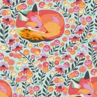 RARE Tula Pink Chipper Fox Nap Sorbet Cotton Fabric