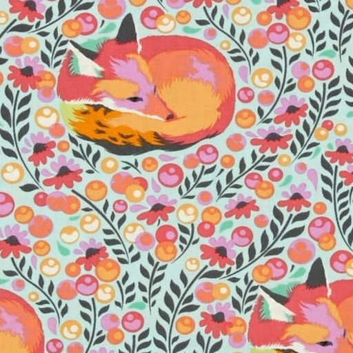 Tula Pink Chipper Fox Nap Sorbet Cotton Fabric