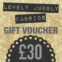£30 Gift Voucher for Lovely Jubbly Fabrics sent by email