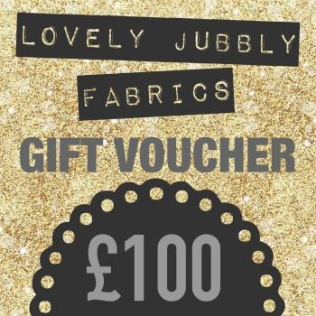 £100 Gift Voucher for Lovely Jubbly Fabrics sent by email