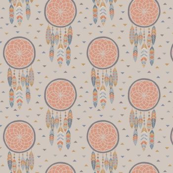 To Catch a Dream Catchers Feathers on Sand Native American Navajo Cotton Fabric